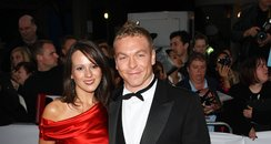 Chris Hoy and Sarra Kemp on the red carpet