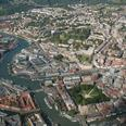 Arial view of Bristol city centre