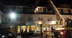 Fire at Heathlands Hotel