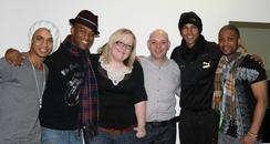 David and Caroline with JLS