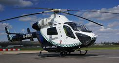 The Helicopter used as the Sussex Air Ambulance