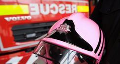 Fake Pink Fire Helmet