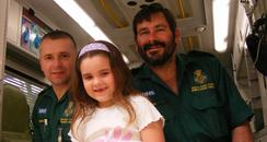 Ronni Chase meets the paramedics who treated her