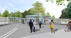 Artists impression of new Chatham bus station