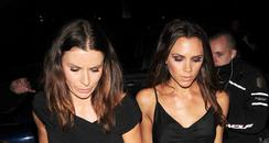 Victoria Beckham and Tana Ramsey out for dinner.