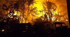 Scrap yard Fire in Fareham