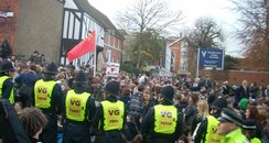 Student protests in Colchester
