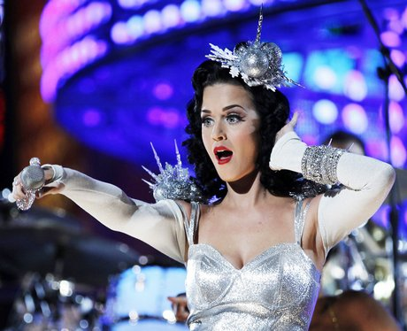 katy perry in a silver dress