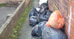 Rubbish piling up in Exeter