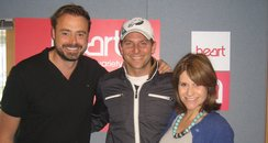 Bradley Cooper with Jamie Theakston & Harriet Scot