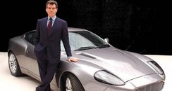 Former 007 Pierce Brosnan with Aston Martin