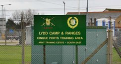 Entrance to Lydd camp and ranges