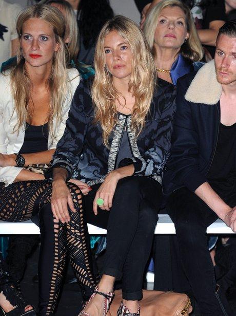 celebrities front row