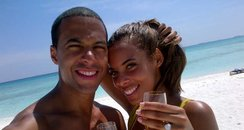 Rochelle Wiseman and Marvin Humes on holiday