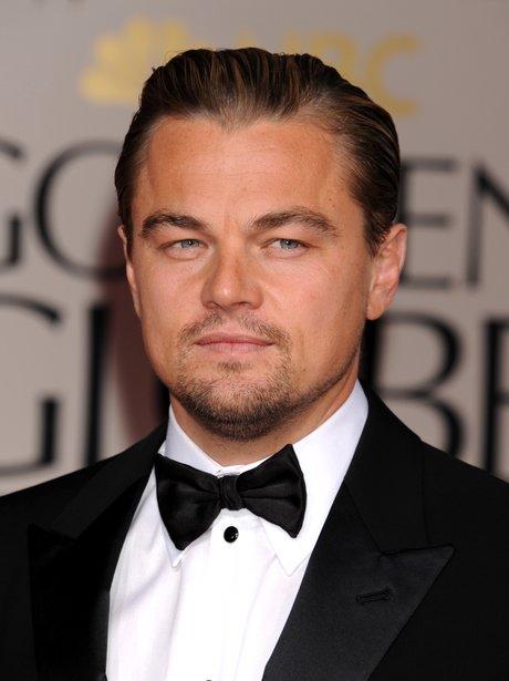 Leonardo DiCaprio in a black tuxedo