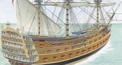 The original HMS Victory sank in 1744