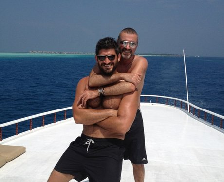George Michael with friendly, Boyfriend Fadi Fawaz