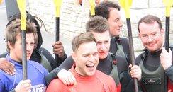 Olly and his band mates went kayaking in Sandbanks