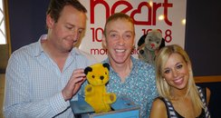 Sooty and Sweep with James and Charlie