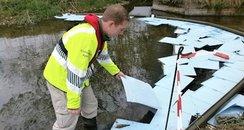 Oil spill River Bourne