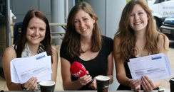 Claire Miller with students at Canterbury College