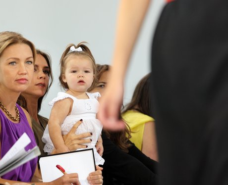 Victoria Beckham and Harper at New York fashion We