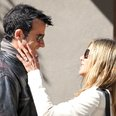 Jennifer Aniston and Justin Theroux with ring