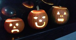 JK & Lucy with Aussie Nige in pumpkin form - can y