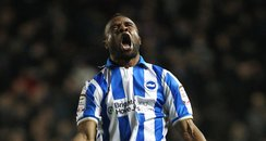 Kazenga Lua Lua celebrates goal against Millwall