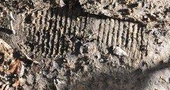Footprint Poole Graveyard Vandalism