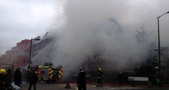 Library and Museum in Walworth on fire