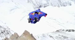 Valery Rozov jumps off Mount Everest