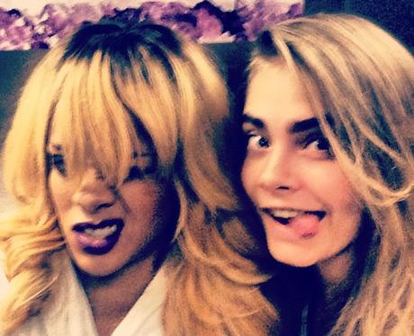 Rihanna and Cara Delevingne