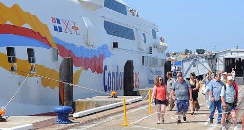 Condor Ferry passengers arrive in Guernsey