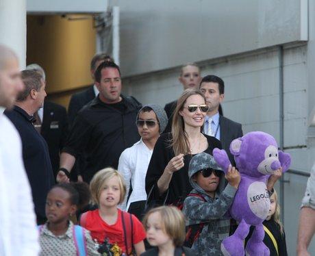 Angelina Jolie arrives at Sydney Airport