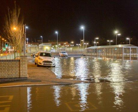 Lowestoft Train Station Flood - East Anglia Storm Surge ...