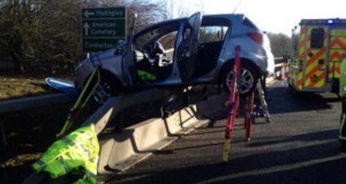 Hardwick A428 Crash