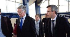 Michael Fallon Portsmouth Minister visit