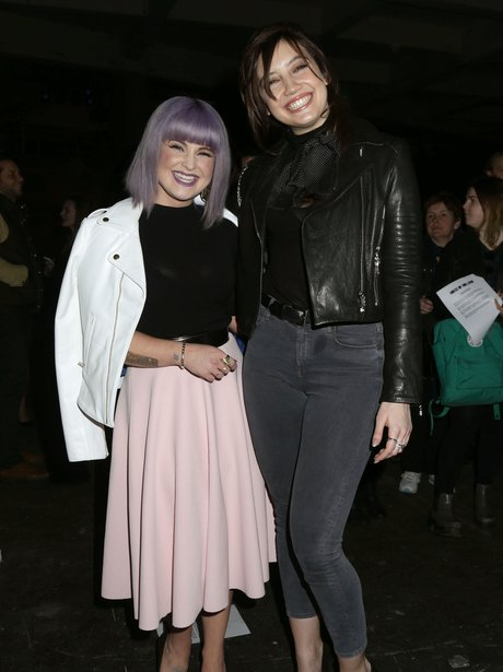 Kelly Osbourne and Daisy Lowe smiling