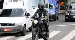 David Beckham on his motorbike in Rio