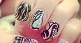 Pixie Lott's colourful nails