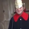 A Man Makes A Queen's Guard Laugh