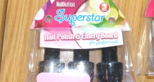 NailNation Superstar Nail polish and Emery Board