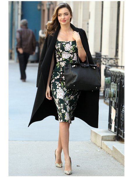 Miranda Kerr in a flora dress