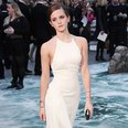 Emma Watson in a halter neck white dress