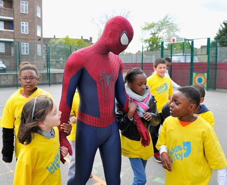 Children and spider man