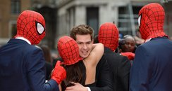 Andrew Garfield at the 'Spider-Man' UK premiere.