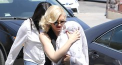 Gwen Stefani and her son Apollo
