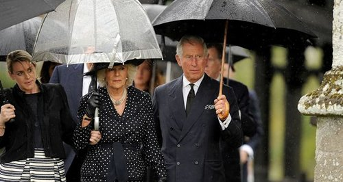 Camilla Charles Mark Shand funeral