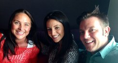 Michelle Keegan with Joel and Lorna
